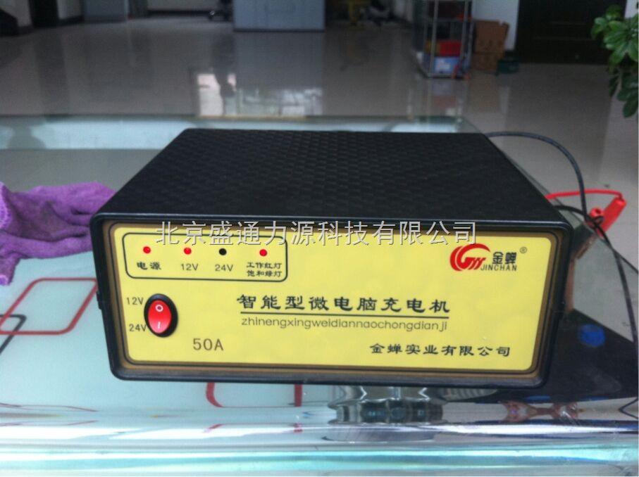 金蝉50a智能脉冲汽车电瓶充电器12v24v充电机