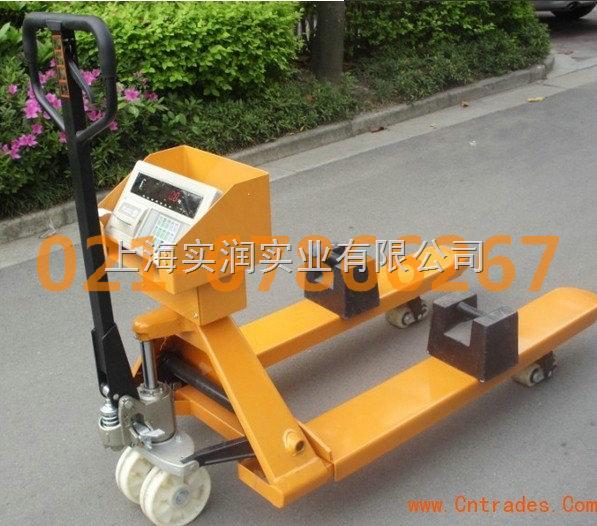 杭州3吨液压升降手推车电子称_计量专用叉车图片