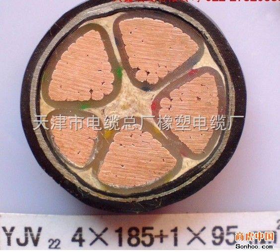 YJV22铠装铜芯电缆3x6+1x4电缆价格