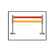 WL卷带式安全围栏 智能型语音警示灯围栏 双层带式不锈钢伸缩围栏