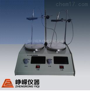 hj-2a数显实验室搅拌器 磁力二联加热搅拌机 多头恒温