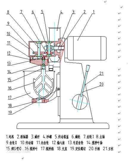 试验机设备 其他 水泥软练检测三件套  水泥胶砂搅拌机结构示意图 五