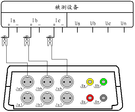 图三十四,电流谐波测试接线图
