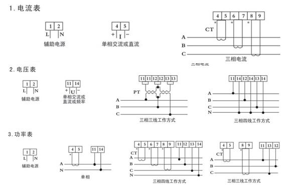数显交流电压表接线