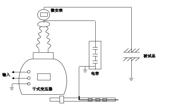 交流耐压试验接线图