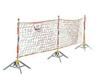 封闭式安全围栏网 高强丝尼龙安全围栏网 安全遮拦围栏网支架