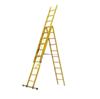 环氧树脂升降梯,玻璃钢绝缘合梯 三网人字梯