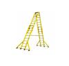 玻璃钢升降合梯,绝缘伸缩合梯